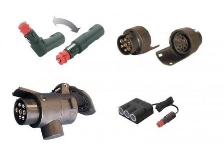 12 V plugger og adapter til bil og henger