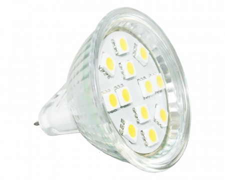 Lyspære MR16 LED 120 lumen 2W (15W) 12V 50x38mm
