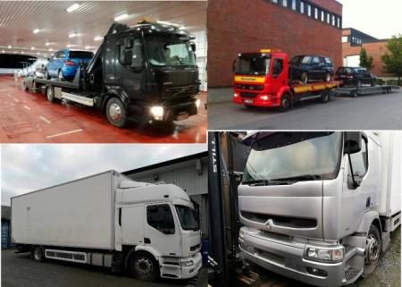 Brukt lastebil, minitog til salg