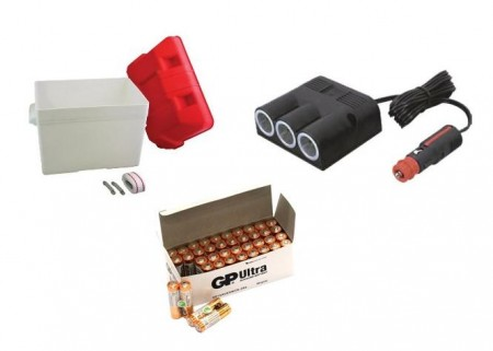 12V plugger/biladapter og tilbehør