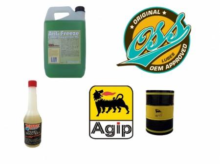 Frostvæske, spylevæske, olje og diverse